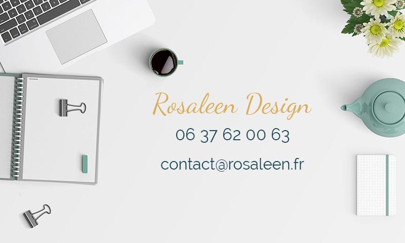 Contacter Rosaleen Design pour la création de votre site internet